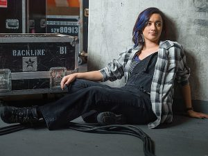 Keisha Castle-Hughes as Donna in Roadies. Photo: Mark Seliger/SHOWTIME
