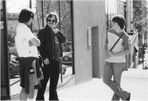 Cameron, Philip Seymour Hoffman & Patrick Fugit. Photo by Neal Preston.